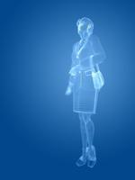 ワイヤーフレームのビジネスウーマン 10143004383| 写真素材・ストックフォト・画像・イラスト素材|アマナイメージズ