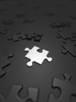 散らばる白と黒のジグソーパズル 10143004433| 写真素材・ストックフォト・画像・イラスト素材|アマナイメージズ