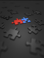 青と赤のみ組むジグソーパズル