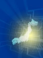 回路と立体の日本地図