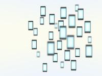 浮遊するスマートフォン