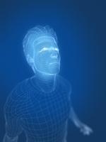ワイヤーフレームの男性 10143004522| 写真素材・ストックフォト・画像・イラスト素材|アマナイメージズ