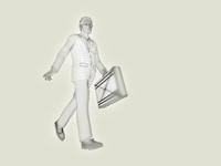 ワイヤーフレームのビジネスマン 10143004523| 写真素材・ストックフォト・画像・イラスト素材|アマナイメージズ