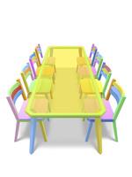 カラフルな椅子とテーブル 10143008441| 写真素材・ストックフォト・画像・イラスト素材|アマナイメージズ