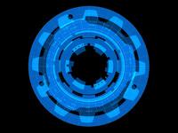 黒背景の円形オブジェクト
