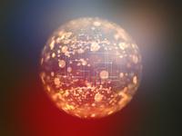 装飾背景の光球体イメージ 10143009500| 写真素材・ストックフォト・画像・イラスト素材|アマナイメージズ