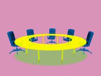 会議テーブルとビジネスチェア 10143009858| 写真素材・ストックフォト・画像・イラスト素材|アマナイメージズ