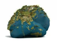 草をが生える岩を模した地球儀 10143009907| 写真素材・ストックフォト・画像・イラスト素材|アマナイメージズ