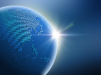 大陸を二進法で描いた地球儀(アジア) 10143009919| 写真素材・ストックフォト・画像・イラスト素材|アマナイメージズ