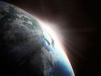 日の出の地球
