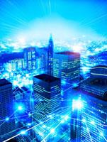 活発な都市イメージ 高層ビル夜景