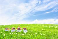 太陽光発電ソーラーパネル付の家のクラフト 10146003225| 写真素材・ストックフォト・画像・イラスト素材|アマナイメージズ