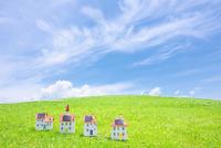 太陽光発電ソーラーパネル付の家のクラフト 10146003227| 写真素材・ストックフォト・画像・イラスト素材|アマナイメージズ