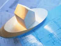 住宅模型と設計図 10151000310| 写真素材・ストックフォト・画像・イラスト素材|アマナイメージズ