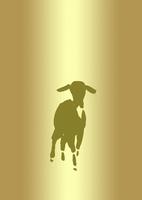 金色グラデーション地羊