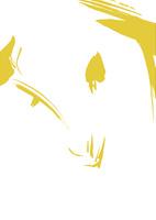 無地淡い金色羊の顔