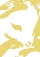淡い金色小羊の頭
