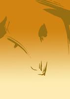 金色グラデーション地羊の顔
