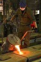 鉄・鋳物工場・鉄を溶かす