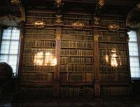 修道院の図書館内部 メルク