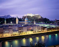 ホーエンザルツブルク城夕景
