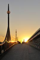 あけみ橋の夕照