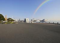 山下公園と大桟橋の豪華客船