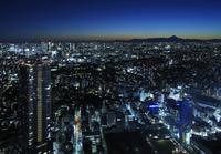サンシャイン60展望台スカイサーカスから見る富士山方向の眺め