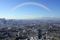 サンシャイン60展望台から見る富士山と新宿副都心