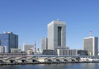 東京のウォーターフロントのビル群