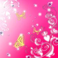 蝶とラインストーンのコラージュ