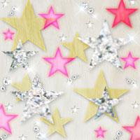 キラキラした星型のコラージュ 10169000411| 写真素材・ストックフォト・画像・イラスト素材|アマナイメージズ