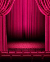 ピンクの緞帳の舞台イメージ 10169000720| 写真素材・ストックフォト・画像・イラスト素材|アマナイメージズ