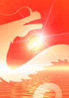 龍と初日の出イメージ 10169000839| 写真素材・ストックフォト・画像・イラスト素材|アマナイメージズ
