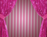 ピンクの緞帳