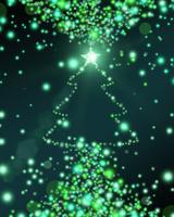 クリスマスツリーの光