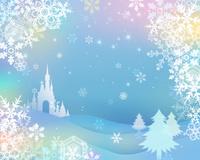 雪の結晶とクリスマスイメージ
