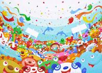 パレード イラスト 10173001019| 写真素材・ストックフォト・画像・イラスト素材|アマナイメージズ