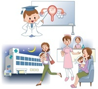 赤ちゃんの医療 妊娠出産と夜間診療 10173003039| 写真素材・ストックフォト・画像・イラスト素材|アマナイメージズ