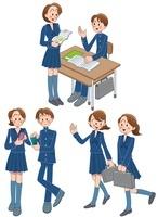 中高生の登校と休み時間と携帯電話 10173003046| 写真素材・ストックフォト・画像・イラスト素材|アマナイメージズ