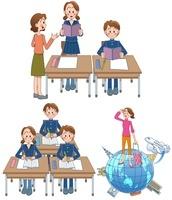 中高生の授業と海外留学 10173003047| 写真素材・ストックフォト・画像・イラスト素材|アマナイメージズ