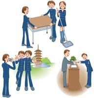 中高生の掃除と修学旅行と卒業式