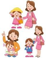 女の子の誕生と幼稚園入園と小学校入学