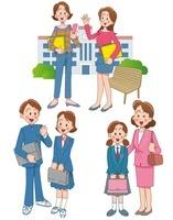 女の子の中学校入学と高校生活と大学生活