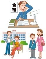 男の子の中学入学と高校受験と大学生活