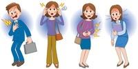 ビジネス男女の病気 動悸と頭痛と腹痛と貧血