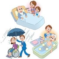 障害者雇用と老人介護 10173003073| 写真素材・ストックフォト・画像・イラスト素材|アマナイメージズ
