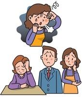 メンタルヘルス 過労や悩みやストレスと鬱病 10173003104| 写真素材・ストックフォト・画像・イラスト素材|アマナイメージズ