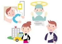 医療保険イメージ 怪我と手術と入院 10173003125| 写真素材・ストックフォト・画像・イラスト素材|アマナイメージズ
