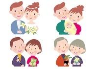 生命保険イメージ 結婚と出産と老後 10173003128| 写真素材・ストックフォト・画像・イラスト素材|アマナイメージズ